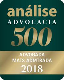 análise Advocacia 500 - Advogada mais admirada 2018